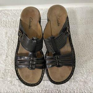 Clarks Bendable Comfort Slide Sandals Side Buckle